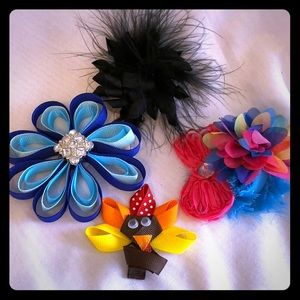 Other - Bundle of Handmade Hair Clips
